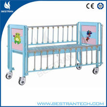 China BT-AB003 2-part Steel Hospital baby wooden bed hospital kids metal beds baby crib price