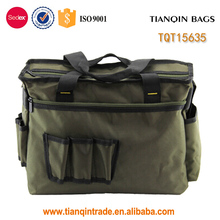 Heavy duty canvas electrical kit tool tote bag