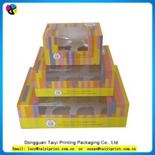 6 & 12 clear single cardboard cupcake muffin box and packaging for sale wholesale