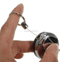 Useful Retractable Metal Card Badge Holder Steel Recoil Ring Belt Clip Key Chain