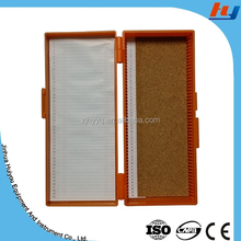 microscope slides storage box used in lab for histology