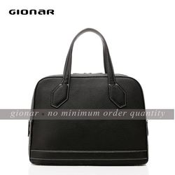 Stiff pebble grain leather bag / designer famous tote bag / latest lady handbags leather