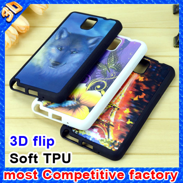 Factory supply most attractive 3D images phone case for iphone case and other protective case