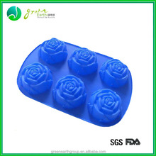 100%Food grade new design custom silicon rose shape cake mould