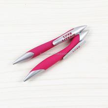customized advertising plastic flat bookmark ball pen