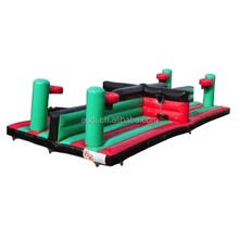 Dual Lane Inflatable Equalizer with Basket Ball Hoops