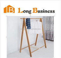 Sinple design wood wall hanging clothes rack for clothes