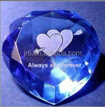 Crystal Love Heart Paperweight for wedding /souvenir/personalized gifts