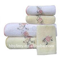 100% bordado de algodón toallas de baño
