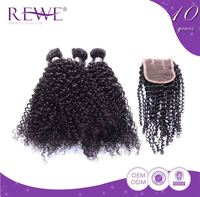 Fashion Style Attractive And Durable Twists Kinky Curly Virgin Brazilian Curl Hair Weaving