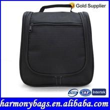 2015 Black 600D wash travel toiletry bag for men