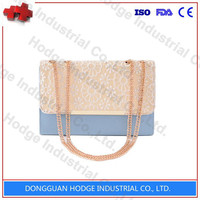 Lace and PU fashion chain bag shoulder bag