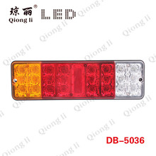 12V 24V Mini truck 24 LEDs full function tail combination light 1 year warranty LED truck light