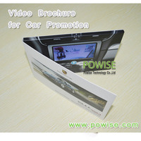 newest UV printing brochure 4.3 inch TFT lcd video greeting card, lcd video cards, video brochure-card ad