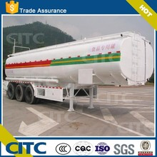 water tanker semi trailer color and logo optional,stainless steel milk tank CITC supplier