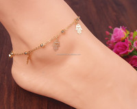 Sexy Small Bell Plam Chain Anklets Tassel Foot Jewelry Girls Accessories