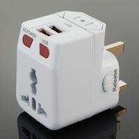 Universal World Travel Adapter Plug AC/USB Power + Surge Protector US/UK/AU/EU