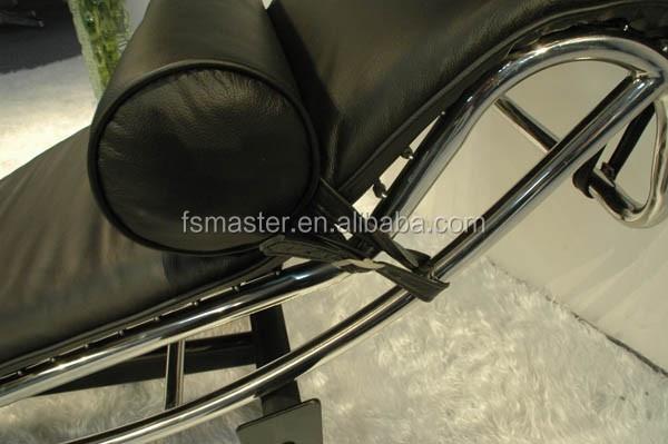 réplique français style adustable cuir/poney peau peau de vache le ... - Chaise Longue Le Corbusier Vache