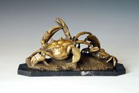 bronze crab statue sale TPAL-037 sculpture en bronze deco