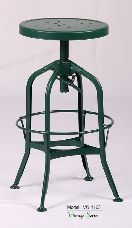 Triumph sintonizador de madeira redonda fezes antigo for Barra estilo industrial