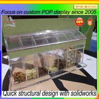 department store acrylic nuts display rack