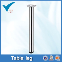 Furniture accessories chrome steel table leg parts