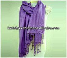 100% viscose fashion pashmina scarf and shawl