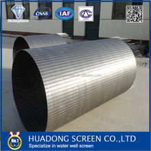 AISI304 continious-slot water well screen filter casing pipe