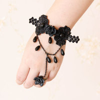 MYLOVE cheap handmade lace bracelet with gem sexy jewelry MLWS58