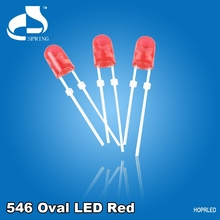 Energy Efficient color diffused 5mm high lumen dip red