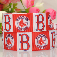 "New arrival 1"" 25mm Baseball Boston passion sports cartoon printed grosgrain ribbon"