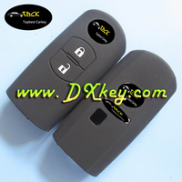 New Style 3 button car key cover for mazda silicon rubber key protector