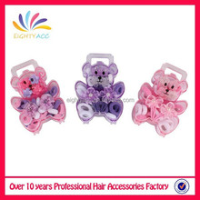 Wholesale 2015 latest hair accessories set on bear shape for baby