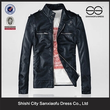 Slim Fit Style Mens Black Leather Jacket With Factory Price