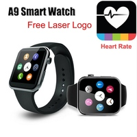 2015 NEW Bluetooth A9 Watch for Apple for Samsung Android System Heart Rate Monitor kogan smart watch