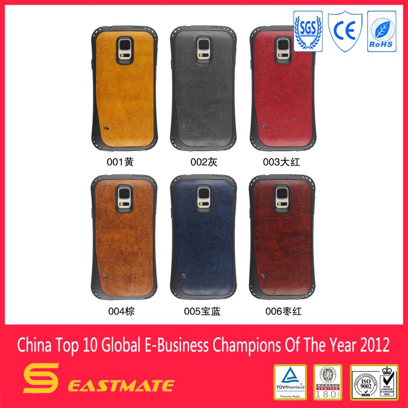 Newest leather case for samsung s5 high quality shockproof cover