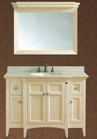European Standard Bathroom Vanity,Bath Cabinets with Marble Vanity Top and Ceramic Basins