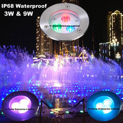 DMX512 IP68 Led Underwater Light 316 Stainless Steel Led Pool Light Music Dancing Fountain Light