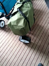 up-grade spring camp leisure metal folding beach wagon cart