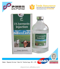 Ivermectin injection 1% antiparasite drug(animal medicine)