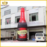 Hot selling giant inflatable wine bottle model, inflatable bottle model, inflatable bottle replica