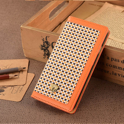 For iphone 6 Accessories PU Leather Case For iPhone 6 Phone Case With Tweed Fabric & PU Leather for iPhone 6 Mobile Case