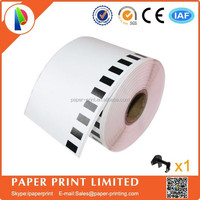 Brother Labels Compatible DK-22205 thermal label paper( free send to 1 reusable cartridge )