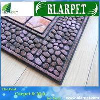 Contemporary branded woven door mat