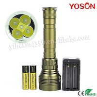 Rotary Switch 5PCS CREE XML-L2 Diving Torch LED With 2pcs 18650 / 26650