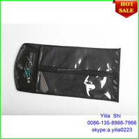 pvc hair extension bag/Beautiful Black satin hair extension bag/silk bags