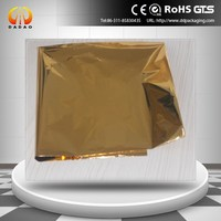 gold metalized pet met polyester film for cardboard paper laminating