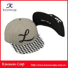 wholesale high quality plain hat custom embroidery acrylic snapback hat