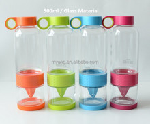 New products 2015 innovative product/Sport drink bottle glass