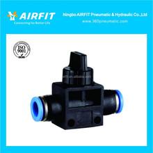 Mejor calidad HVFF plástico válvula de mano neumática conector